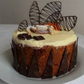 Chocolate Carrot Apricot Nutty Cake