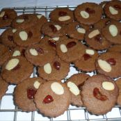 Chocolate Almond Cherry Biscuits