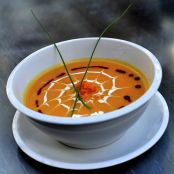Spider Web Pumpkin Soup