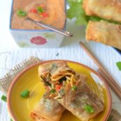 Chinese Spring Rolls- with Thai Peanut Sauce