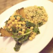Moroccan roasted squash with spiced chickpeas