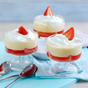 Strawberry Trifle with Ambrosia Devon Custard