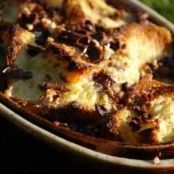 Choco-nuts brioche bread and butter pudding