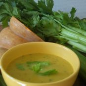 Butternut Squash Soup with Fresh Coriander