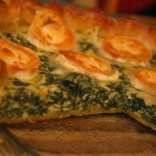 Spinach and goat cheese pie