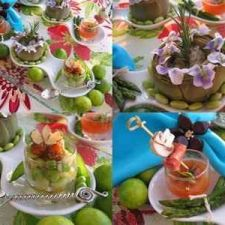 A selection of spring appetisers