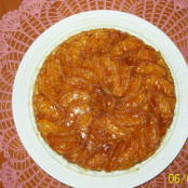 Tarte Tatin with orange