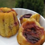 Little Damson plum filled sponge cakes