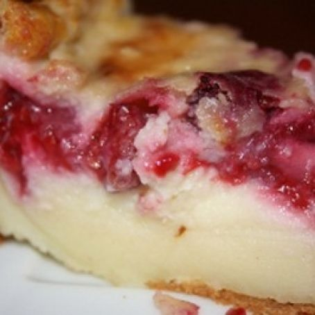Far Breton raspberry and apple pie