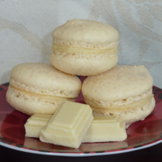 White Chocolate Macarons