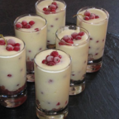 Tiramisu with Red Gooseberries