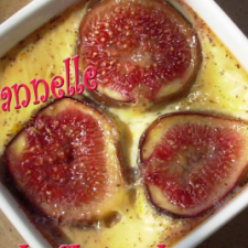 Fig gratin with cinnamon and orange blossom