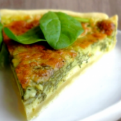 Saint Marcellin & spinach quiche