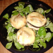 Maroilles stuffed mushrooms