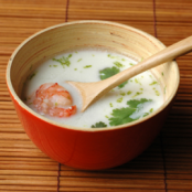 Prawn soup with coconut milk