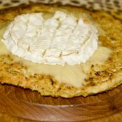 Cassava pancake with grilled camembert