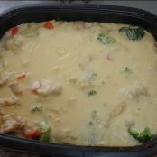 Winter Vegetable bake in cheese sauce