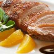 Duck in dark chocolate orange sauce