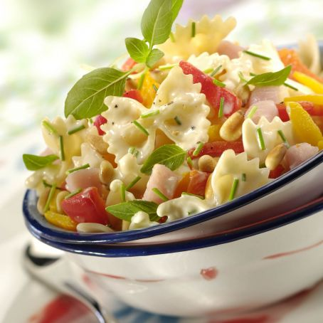 Pasta salad full of sunshine