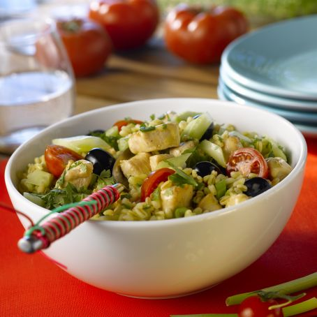Ebly wheat salad with chicken
