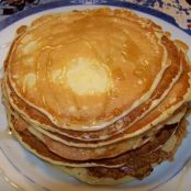 Pancakes in maple syrup