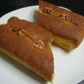 Banana cake with nuts