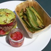 Courgette beef burgers