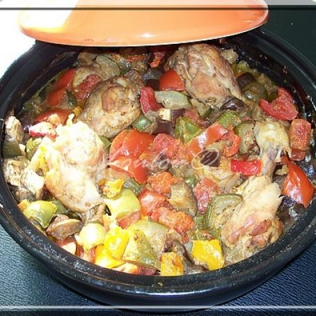 Chicken tagine with ratatouille