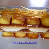 Caramelised apple millefeuille with crème chiboust