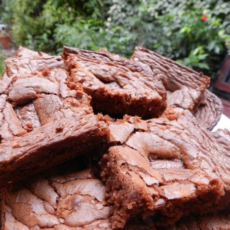 Chocolate caramel brownies with Dime bars