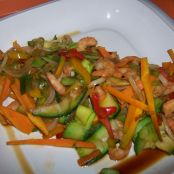 Land and sea stir-fry