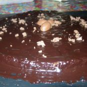 Dark chocolate Easter cake