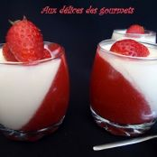 Panna cotta with white chocolate and strawberries