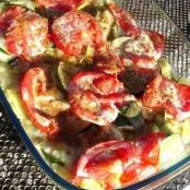 Ravioli bake with summer vegetables