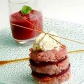 Red tuna and beetroot tartare