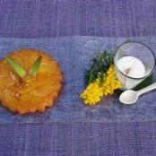 Pineapple tarte tatin with coconut mousse