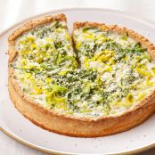 Vegetable and ricotta tart