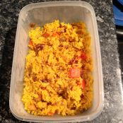 Yellow Rice, Red Pepper