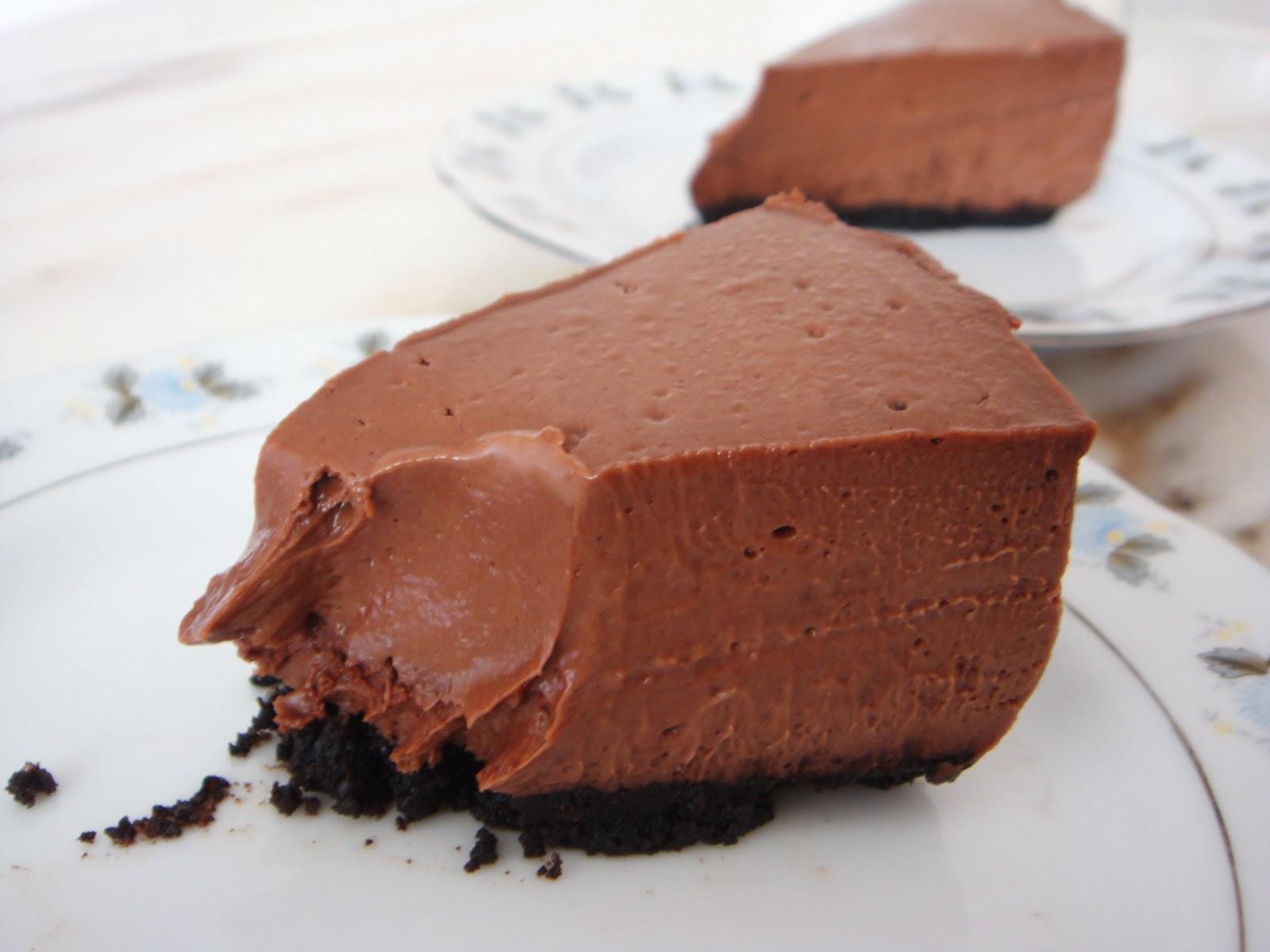 шоколадный чизкейк без выпечки рецепт с фото перешёл под